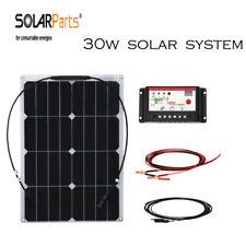30w 18v Semi Flexible Solar Panel System Cell Module Outdoor Energy 12v Battery