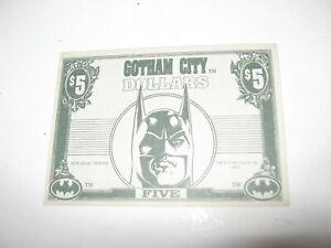 Batman returns 1992 Dynamic marketing Gotham city $5 bills nice crisp