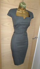 CLASSIC HOBBS TAILORED GREY WIGGLE WORK DRESS UK 10 US 6 HOURGLASS PENCIL