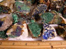Azurite malachite chrysocolla on matrix specimens Ajo,Arizona 4 piece lots