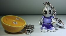 Kidrobot Keychains Lot of Two Figures Breakfast Flocked Orange & Super Mini Bot