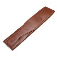 Brown Adjustable Soft Leather Thick Strap for Electric Acoustic Guitar Bass
