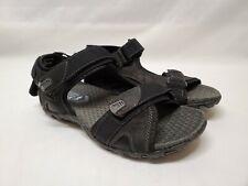 Nunn Bush Walk Sandals Mens 9 W Adjustable Straps Walking Sandals Black