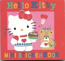 Vintage 1976 1992 Sanrio Hello Kitty Mini Sticker Seal Book New