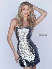 Sherri Hill 51547 Short Black Sequin Dress Size 6