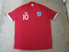 """England Away Shirt World Cup South Africa 2010 - Adult 48"""" - Umbro - Rooney 10"""