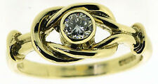 Round Excellent Cut Yellow Gold VVS2 Fine Diamond Rings