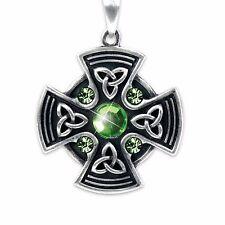Celtic Sun Cross Pewter Pendant
