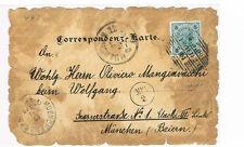 """Österreich auf """"alt"""" gemachte SW Postkarte Wien nach München gelaufen"""