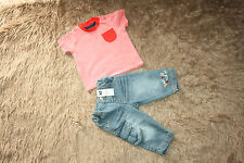 Baby Boy's Jeans (NEW) & T-shirt (USED) 3-6 Months