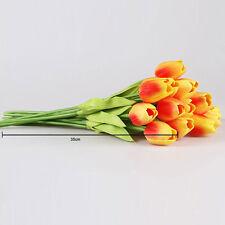 10 Stück Künstliche Tulpen Blumen Kunstblumen Kunstpflanze Wedding Bouquet