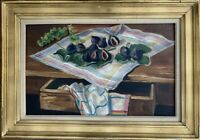 MAURICE GEORGES PONCELET (Mulhouse 1897-1978) HST RARE NATURE MORTE AUX FIGUES