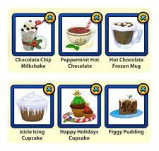 Webkinz Holiday/Festive Foods - Pick 3 Online Items (Read Description)