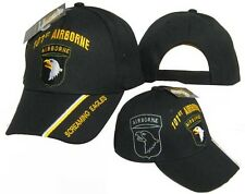 U.S. Army 101st Airborne Screaming Eagles Shadow Black Embroidered Cap (TOPW)