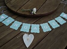 ENGAGED Engagement banner/sign ocean - bunting flags/garland - decoration- party