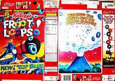 1996 Froot Loops Cereal Box unused factory Flat s282