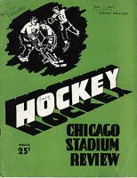 1947, (Dec.7) Chicago Stadium Review Hockey Magazine, Chicago Blackhawks