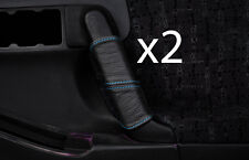 blue stitch FITS VAUXHALL OPEL FRONTERA B 98-04 2X FRONT DOOR HANDLE COVERS