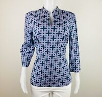 346 Brooks Brothers Women Size L Multicolor 3/4 Blouse Top Shirt Tunic. B34