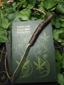 Upcycled Athame with Blackthorn Wood Handle - Pagan, Wiccan, Ritual, Witchcraft