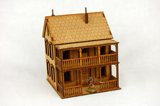 North American PLANTATION/ TOWN HOUSE w. PORCH & BALCONY 28mm Terrain M022