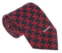 Missoni U5575 Red/Black Geometric 100% Silk Tie