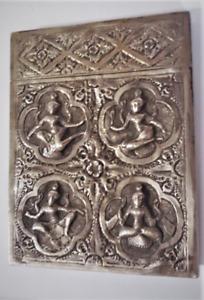 Antique Burma Siam Silver Card or Cigarette Case