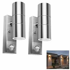 2 x Outdoor Security PIR Sensor Porch Outside Wall Door Patio House Garden Light
