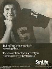 1981 Print Ad of Sun Life Canada Assurance Company w Jim Plunkett Life Insurance