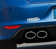 Aufkleber FRIDAYS FOR TUNER Autoaufkleber Umwelt Feinstaub Sticker CO2 Greta