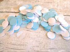 1000 vintage romántico papel de seda Círculo confeti blanco y azul