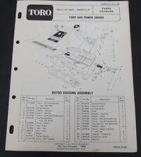 toro gas power shovel parts manual catalog model 38350 serial 3000001 and up
