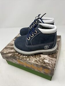Vintage Timberland Toddler Boots Chukka Navy Blue 11854 New In Box Size 8.5