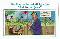 Donald McGill Vintage Postcard 'Ere Bert You Just Wait Till I Give 'em' 11.11