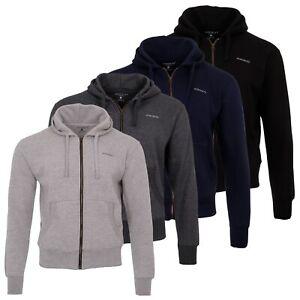 NORDBURY Men's Fleece Hooded Jumper Full Zip Up Hoodie Long Sleeves Front Pocket