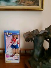 "Sailor Moon Deluxe Adventure Doll 11.5"" Irwin Toys 2000 Lt Blue Box New"