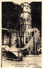 "RPPC 100"" REFLECTING TELESCOPE ASTRONOMY MT. WILSON CALIFORNIA PHOTO POSTCARD"