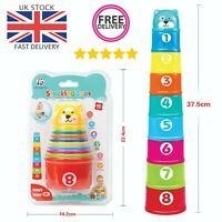 9 pcs Kids Educational pre school Toys Interactive Stacking Cups Game infant kid
