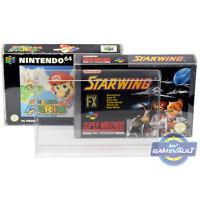 10 x SNES N64 Game Box Protectors for Super Nintendo 0.5mm Plastic Display Case