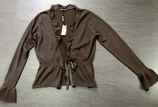 AUTOGRAPH Beautiful Brown 70% Silk & Cotton Mix Cardigan Size M NWT £59