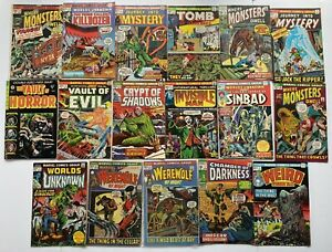 Marvel Supernatural Thrillers Werewolf By Night Monsters And Suspense Lot Of 17