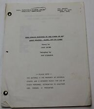 What Really Happened to the Class of '65? * 1977 TV Show Script * Tony Bill