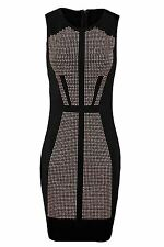 Ladies Sleeveless Gold Silver Studded Pattern Front Women's Bodycon Dress
