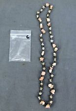 Handmade Natural Gem Stone Chip Necklace 32'' Rose Quarts / Clear Quarts Lot-G