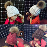 Winter Warm Child Kids Girls Boy Beanie Hat Crochet Knit Fur Pom Bobble Ski Cap