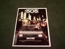 1987 Model PEUGEOT 505 SALOON - GR GRD SR SRD GTi GTDT - UK BROCHURE