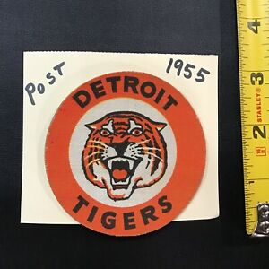 1955 Post Cereal Detroit Tigers Baseball Sticker Patch Premium