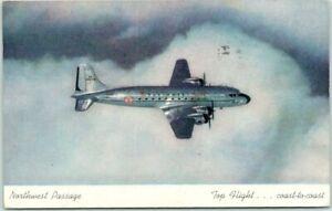 """Vintage NORTHWEST AIRLINES Advertising Postcard """"Northwest Passage"""" 1946 Cancel"""