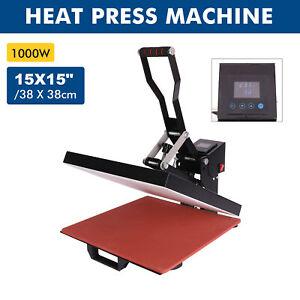 CRENEX Clamshell Heat Press Machine 38x38cm Transfer T-shirt Printer