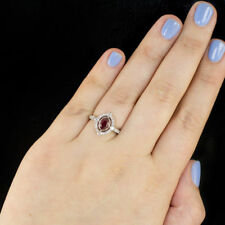 14K White Gold Over Charming Jewelry Red Ruby Gemstone Wedding ring New Siz 5-12